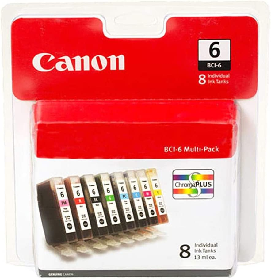Canon BCI-6 8 Color Multi Pack Compatible to iP8500, i9900