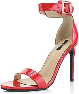 Women's Stiletto Heels Open Toe Ankle Buckle Strap Platform High Heel Evening Party Dress Casual Sandal Shoes