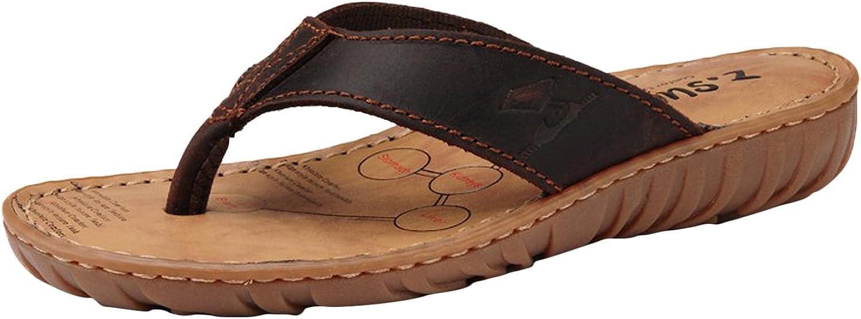 DQQ Women's Leather Pattern Flip Flop Thong Sandal