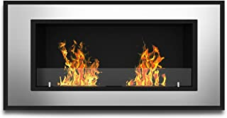 Regal Flame Brooks 47 Inch Ventless Built In Recessed Bio Ethanol Wall Mounted Fireplace