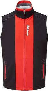 Bunker Mentality Elliott Windproof Full Zip Mens Golf Vest - Black Sleeveless Wind Resistant