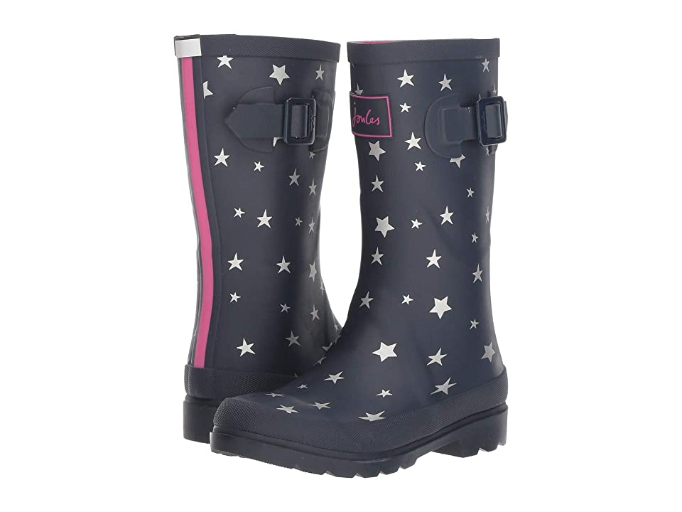Joules Kids Printed Welly Rain Boot (Toddler/Little Kid/Big Kid) (French Navy Falling Star) Girls Shoes