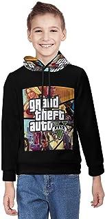 G-TA G-rand Theft Auto Unisex Teenage Hoodie 3D Print Pullover Hooded Sweatshirt voor jongens en meisjes