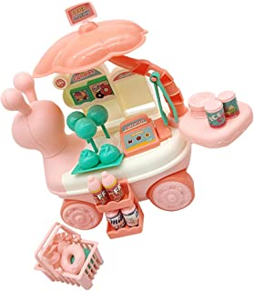 Toyvian Kid Candy Truck Playset Role Candy Trolley Play House with Music Lighting Parent Child Interaction Toys Dollhouse Decorations Without Battery