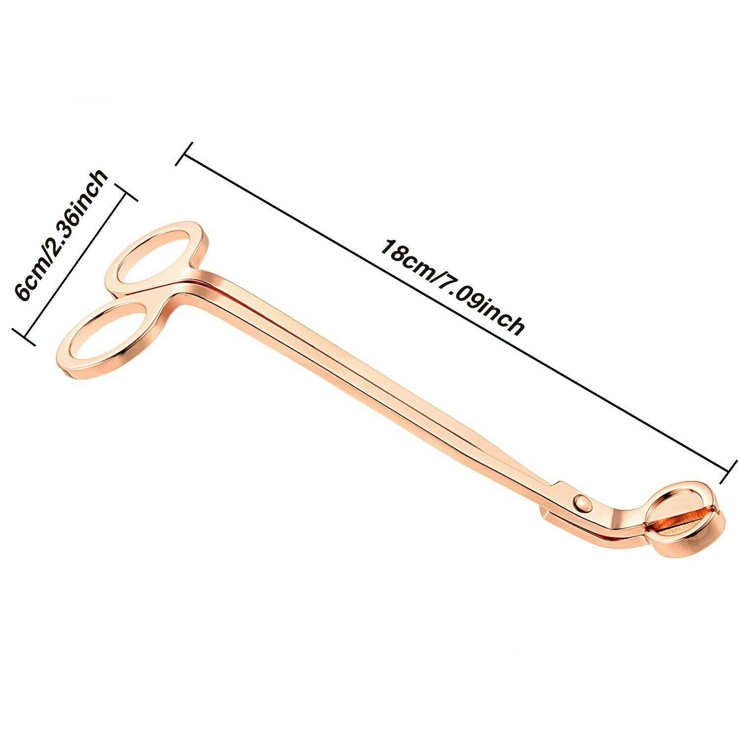 Wick Trimmer Set Candle Tool Upgrade Candle Scissors 2Pcs Rose Gold Stainless Steel Candle Wick Cutter N//V Candle Wick Trimmer