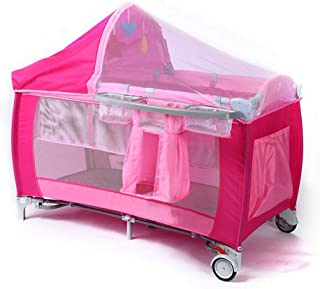 JTYX Baby Cot Multifunctional with Insectproof nets Foldable Detachable Portable Baby Travel Bed