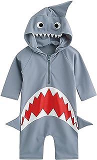 Mulfei Baby Boys Girls Shark Swim Rash Guard Swimsuit Costume Sun Protection Swimwear