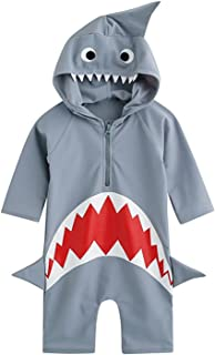 Moomintroll Baby Boys Girls Shark Swim Jumpsuit Rash Guard Swimsuit Costume Sun Protection Swimwear