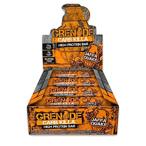 Sales Tradings Limited Grenade Carb Killa Bar-Jaffa Quake Box, 12 X 60g