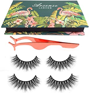 3D Mink Lashes Hand-made Dramatic Makeup Strip Lashes 100% Siberian Fur Fake Eyelashes Thick Crisscross Deluxe False Lashe...