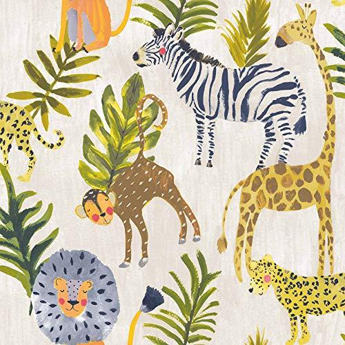 Kleine Tiere Eco Safari Wallpaper Multi GranDeco LO2201
