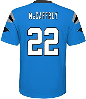 OuterStuff Christian McCaffrey Carolina Panthers NFL Youth 8-20 Aqua Blue Alternate Mid-Tier Jersey (Youth X-Large 18-20)