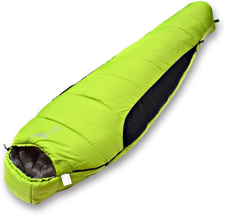 Liergou Musikfestivals Ideale Campingausrüstung Schlafsack Dicke warme mumifizierte Camping Camping tragbare einzelne atmungsaktive Schlafsack geeignet für Outdoor-Camping B07PYN222L  Karamell, sanft