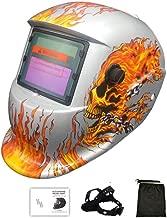 MOGOI Professional Welder Helmet/Mask, Solar Powered Welding Helmet Auto Darkening Hood With Wide Lens Adjustable Shade Range 4/9-13 For Arc Tig Mig Plasma, Fantastic Pattern,E