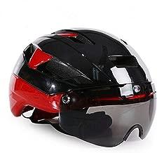 whhuwai 3 Lens Bicycle Helmet in-Mold Bike Sports Safety Goggles Helmet Men Racing Road Time-Trial Cycling Helmet
