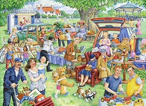 Yzqxiongtu Car Boot Sale-puzzel 1000 stukjes, houten entertainment-puzzel, 2D-puzzels voor volwassenen voor tieners, kinderen