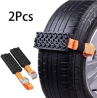 Riloer Schneeketten, 2 Stück rutschfeste Reifenketten für PKW/LKW/SUV, rutschfester Notfall Autoreifengürtel für den Außenbereich, 95 * 5 cm