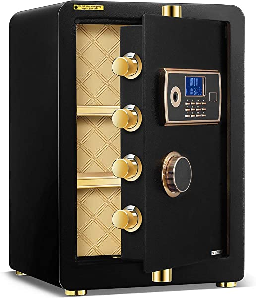 DOIT 22 Inch 2 0 Cubic Feet Digital Security Safe With LED Display Black Large Lock Box Password Lock Wall Mounted For Home Office Use