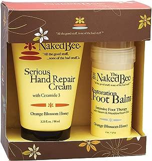 The Naked Bee Orange Blossom Honey Serious Restoration For Hands & Feet Gift Set
