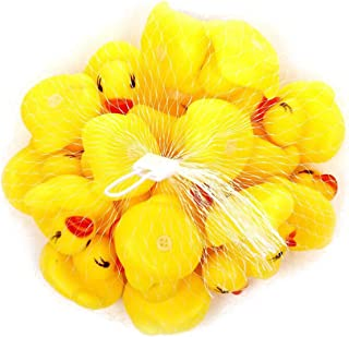 Enjoyinterx Hot Sale Rubber Duck, Child Bathing, Swimming Duck, Pinching Toy, Duck Toy Fancy Well(None YW)