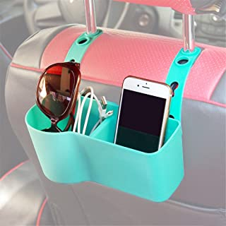 APSOONSELL Car Seat Organizer Adjustable Auto Seat Back Drinks Holder for Cup Wallet Phone Cosmetic,Blue