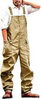 Suncolour Men's Retro Loose Dungarees Jumpsuit Pockets Jumpsuits One Piece Playsuit Overalls