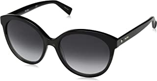 Max Mara Women's Mm Eyebrow I Round Sunglasses, Grey & black, 56 mm