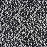 Fabulous Fabrics Spitzenstoff Floral – schwarz —