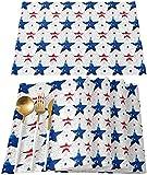 Tovagliette Da Tavola Pezzi American Blue Red Stars With Fireworks Tovagliette Resistenti Al Calore Tovagliette In Lino Lavabile Per Pranzo Cucina Fac30 Cm X 45 Cm (12 Pollici X 18 Pollici) 6 Pezzi