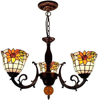 Amazon.com: Tiffany estilo mediterráneo lámparas de araña ...