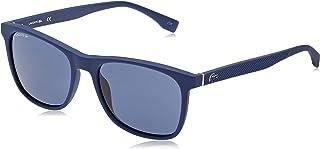 لاكوست نظارات شمسية للرجال ، لون العدسة ازرق ، L860S