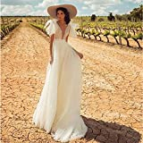 SWEETQT Bridal wedding dress A-line Wedding Dress Backless Wedding Gowns Elegant Bride Dress Classic White Point Long Dress evening dress