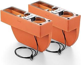 Los asientos del coche Gap Filler, consola de bolsillo lateral, asiento de coche del colector del coche Organizador con la caja de monedas y de carga USB Hub for teléfonos móviles carpeta