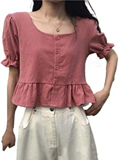 Winwinus Womens Ruffle Loose Casual T-Shirt Fashion Blouse Top