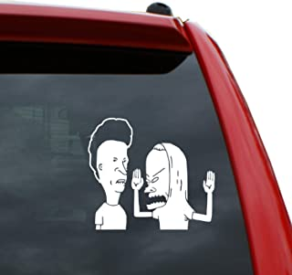 Beavis and Butthead Vinyl Decal Sticker   Color: White   5