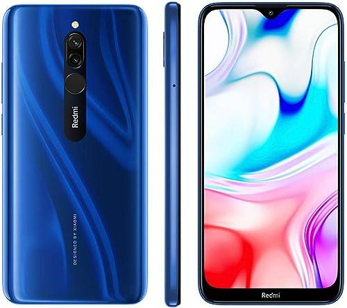 Xiaomi Redmi 8 Smartphone, Dual SIM, 4GB RAM, 64GB, LTE - Sapphire Blue
