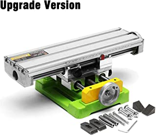 """Mini Precision Milling Machine Worktable Multifunction Drill Vise Fixture Working Table (Large (13.8""""-3.9""""))"""