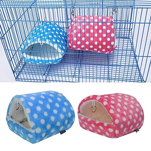 Warm Thickened Parrot Hamster Hammock Nest 9x10cm huangchuxin (Color : Pink)