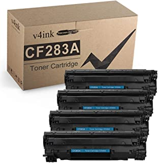 Best V4INK Compatible CF283A Toner Cartridge Replacement for HP 83A CF283A for use in HP Laserjet Pro MFP M127fw M127fn M125nw M201dw M201n M225dn M225dw M125a Series Printer (Black, 4 Pack) Review