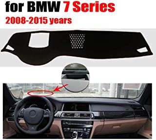 Qnice Car Dashboard Cover for BMW 7 Series with HUD 2008-2015 Left Hand Drive Dash Mat Covers Auto Dashboard Protector Accessories