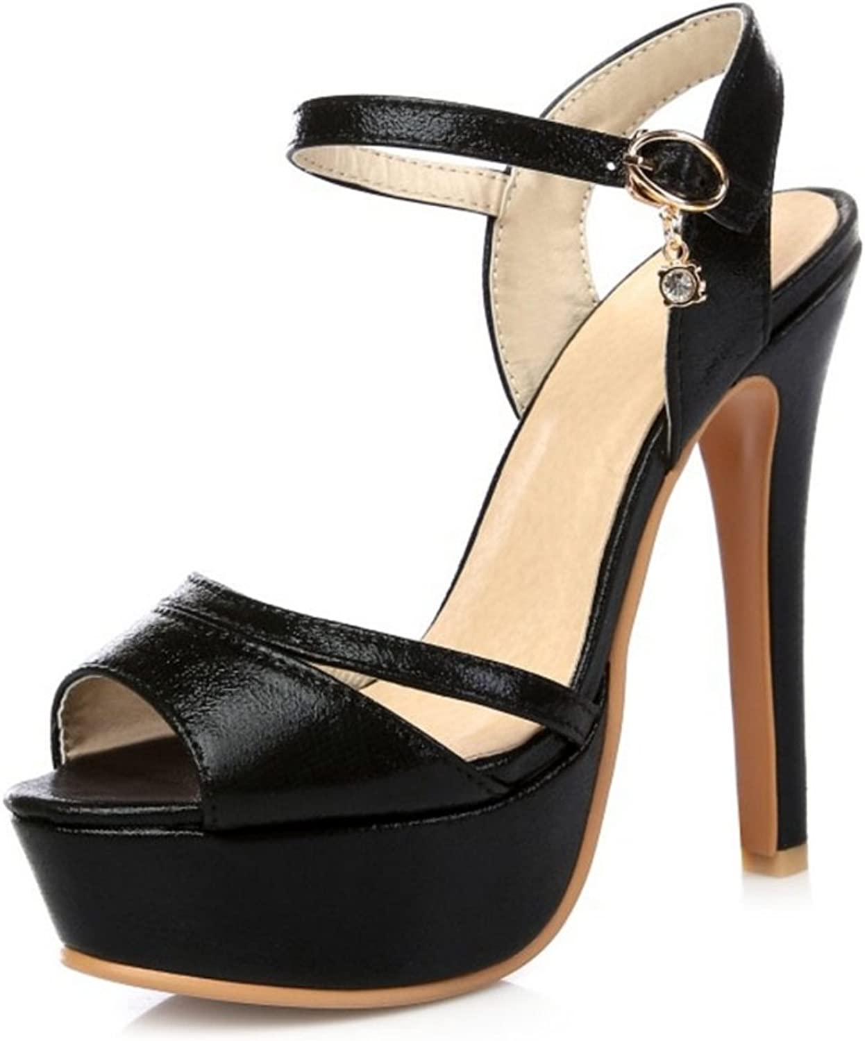 Smilice Women High Heel Gladiator Sandals Ankle Strap Peep Toe shoes Size 1-13 US