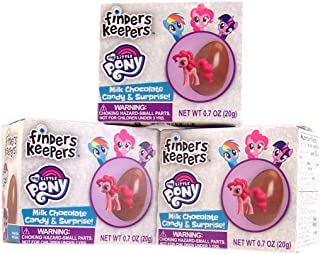 Easter My Little Pony Finders Keepers Chocolate Egg with Surprise Collectible Figurine Included in Box, Pack of 3