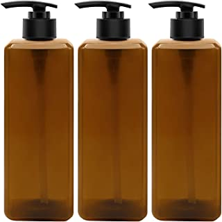 TRENDBOX 500ml / 16oz Shampoo Bottle, Empty Press Pump Bottle, Plastic Bottle for Water, Essential Oils, Cleansing Shampoo...