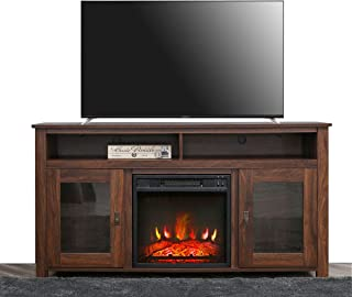 Top Space Electric Fireplace TV Stand,Electric Fireplace TV Console for TVs up to 60