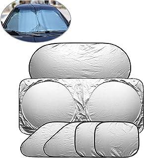 Negro Set la Ventana de Coche de la sombrilla del Acoplamiento autom/ático Cortina Parasol con Ventosa Front Side cortinilla Trasera Car Styling Cubiertas Parasol LasVogos 5pcs