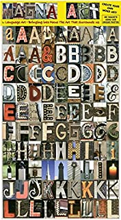 Language Art Magnetic Letters. Unique Alphabet Magnets for Kids & Adults. Educational. for Lockers, Refrigerators or Any Metal Surface. 180 Images Depicting Letters in Color. Get Creative Now!