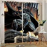Cortina de partición caliente y fría Superhéroe Bat-man Art Poster Cortinas opacas para dormitorio, cocina y sala de estar 254 x 243 cm