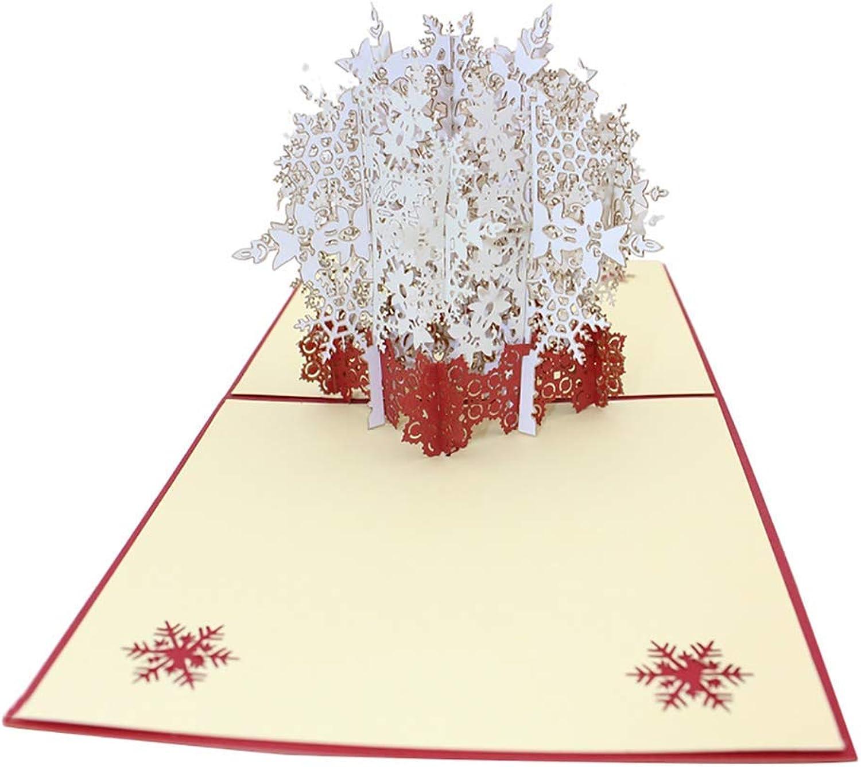 1 STÜCKE DIY Neues Jahr Gruß Weihnachten Schnee Schnee Schnee Karten 3D Glückwunschkarte Auf Gefaltetem Dreidimensionalen Hohl Papier Schnitzen Valentinstag Karte Xmas Grußkarte Durable und Nützlich Ogquaton B07Q8Q1W2N | Elegante und robuste  521767