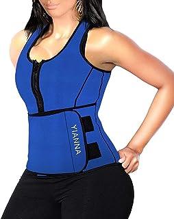 YIANNA Sweat Sauna Vest for Women Neoprene Tank Top Waist Trainer Corset Fitness Slimming Body Shaper