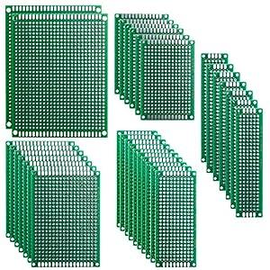 ELEGOO 32 Piezas Doble Cara Junta de PCB Doble Cara Tarjeta Placa Prototipo